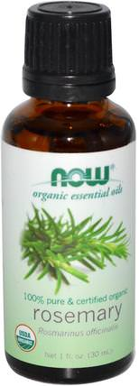 Organic Essential Oils, Rosemary, 1 fl oz (30 ml) by Now Foods, 沐浴,美容,香薰精油,迷迭香精油 HK 香港