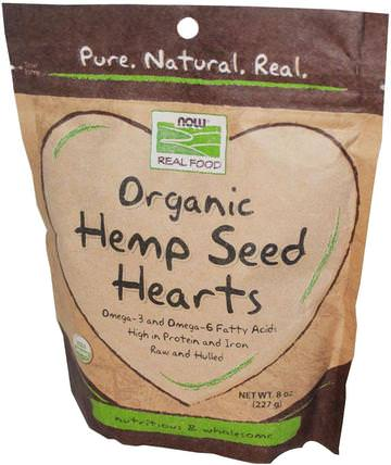 Real Food, Organic Hemp Seed Hearts, 8 oz (227 g) by Now Foods, 補充劑,efa omega 3 6 9(epa dha),大麻產品 HK 香港