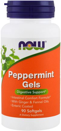 Peppermint Gels, 90 Softgels by Now Foods, 健康,ibs,草藥,薄荷 HK 香港