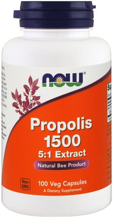 Propolis 1500, 300 mg, 100 Veg Capsules by Now Foods, 補充劑,蜂產品,蜂膠 HK 香港