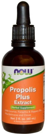 Propolis Plus Extract, 2 fl oz (60 ml) by Now Foods, 補充劑,蜂產品,蜂膠 HK 香港