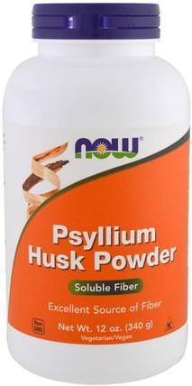 Psyllium Husk Powder, 12 oz (340 g) by Now Foods, 補品,纖維,洋車前子殼 HK 香港