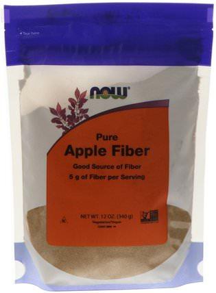 Pure Apple Fiber, 12 oz (340 g) by Now Foods, 補充劑,纖維,蘋果果膠,蘋果纖維/果膠 HK 香港