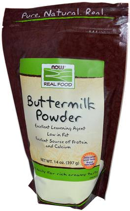 Real Food, Buttermilk Powder, 14 oz (397 g) by Now Foods, 食品,酪乳,助劑 HK 香港