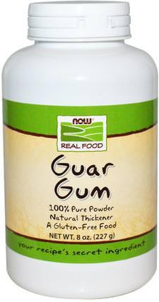Real Food, Guar Gum, 8 oz (227 g) by Now Foods, 補品,纖維,瓜爾豆膠 HK 香港