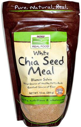 Real Food, White Chia Seed Meal, 10 oz (284 g) by Now Foods, 補充劑,efa omega 3 6 9(epa dha),正大種子 HK 香港