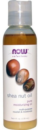 Solutions, Shea Nut Oil, Pure Moisturizing Oil, 4 fl oz (118 ml) by Now Foods, 現在食用油,健康,沐浴,美容油,身體護理油 HK 香港