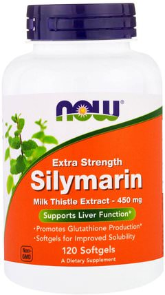 Silymarin, Extra Strength, 120 Softgels by Now Foods, 健康,排毒,奶薊(水飛薊素),肝臟健康 HK 香港