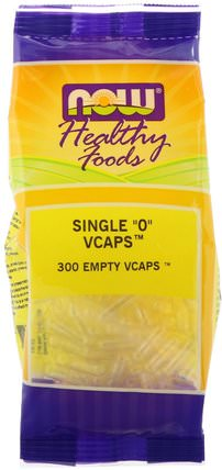 Single 0 Vcaps, 300 Empty Vcaps by Now Foods, 補充劑,空膠囊,空膠囊0 HK 香港