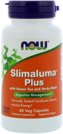Slimaluma Plus, 60 Veg Capsules by Now Foods, 健康,飲食,slimaluma caralluma,減肥 HK 香港