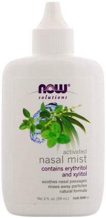 Solutions, Activated Nasal Mist, 2 fl oz (59 ml) by Now Foods, 沐浴,美容,口腔牙齒護理,木糖醇口腔護理 HK 香港