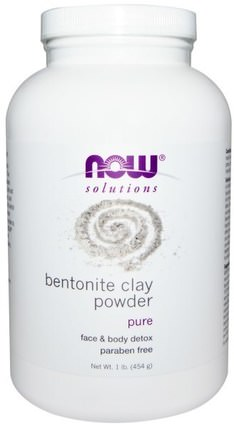 Solutions, Bentonite Clay Powder, 1 lb (454 g) by Now Foods, 健康,排毒,粘土,美容,面膜,泥面膜 HK 香港