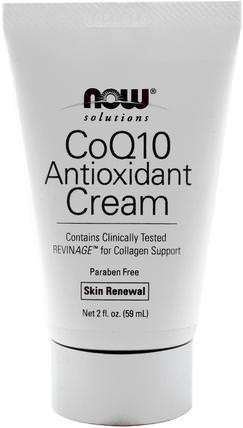Solutions, CoQ10 Antioxidant Cream, 2 fl oz (59 ml) by Now Foods, 美容,面部護理,面霜,乳液,coq10皮膚 HK 香港