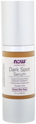 Solutions, Dark Spot Serum, 1 fl oz (30 ml) by Now Foods, 健康,皮膚血清,美容,面部護理,美白面部護理 HK 香港