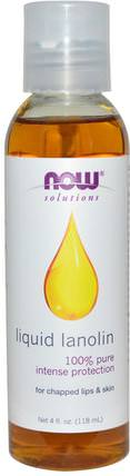 Solutions, Liquid Lanolin, 4 fl oz (118 ml) by Now Foods, 健康,皮膚,羊毛脂油,現在食用油 HK 香港