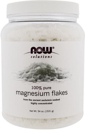 Solutions, Magnesium Flakes, 100% Pure, 54 oz (1531 g) by Now Foods, 補品,礦物質,鎂 HK 香港