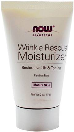 Solutions, Wrinkle Rescue Moisturizer, 2 oz (57 g) by Now Foods, 美容,抗衰老 HK 香港