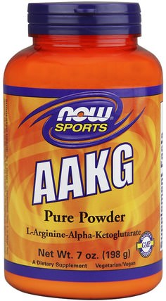 Sports, AAKG Pure Powder, 7 oz (198 g) by Now Foods, 補充劑,氨基酸,l精氨酸,aakg(精氨酸α酮戊二酸) HK 香港