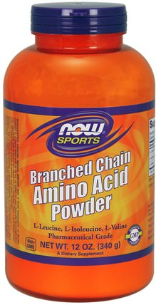 Sports, Branched Chain Amino Acid Powder, 12 oz (340 g) by Now Foods, 補充劑,氨基酸,bcaa(支鏈氨基酸),氨基酸組合 HK 香港