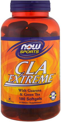 Sports, CLA Extreme, 180 Softgels by Now Foods, 減肥,飲食,cla(共軛亞油酸),cla HK 香港