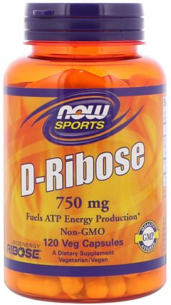 Sports, D-Ribose, 750 mg, 120 Veg Capsules by Now Foods, 運動,核糖 HK 香港