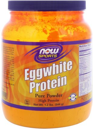 Sports, Eggwhite Protein, 1.2 lbs (544 g) by Now Foods, 補充劑,氨基酸,絲氨酸,蛋白質 HK 香港