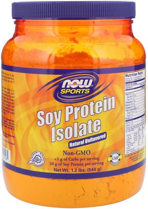 Sports, Soy Protein Isolate, Natural Unflavored, 1.2 lbs (544 g) by Now Foods, 補充劑,豆製品,大豆蛋白 HK 香港