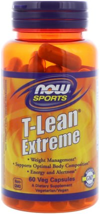 Sports, T-Lean Extreme, 60 Veg Capsules by Now Foods, 健康,飲食,減肥 HK 香港