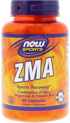Sports, ZMA, Sports Recovery, 90 Capsules by Now Foods, 運動,zma,合成代謝補品 HK 香港