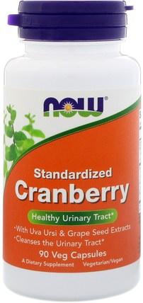 Standardized Cranberry, 90 Veg Capsules by Now Foods, 健康,膀胱,草藥,蔓越莓 HK 香港
