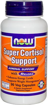 Super Cortisol Support, 90 Veg Capsules by Now Foods, 減肥,飲食,皮質醇,banaba葉 HK 香港