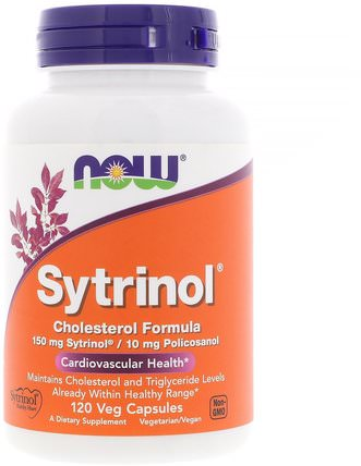 Sytrinol, Cholesterol Formula, 120 Veg Capsules by Now Foods, 健康,膽固醇支持,植物甾醇 HK 香港