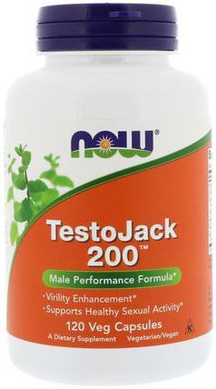 TestoJack 200, 120 Veg Capsules by Now Foods, 健康,男性,長傑克(東革阿里馬來西亞人參) HK 香港