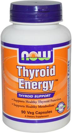 Thyroid Energy, 90 Veg Capsules by Now Foods, 健康,甲狀腺,草藥,ashwagandha withania somnifera,ashwagandha HK 香港