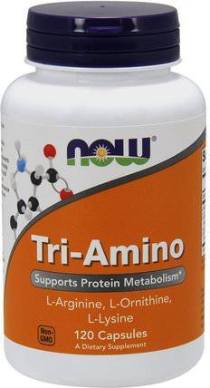 Tri-Amino, 120 Capsules by Now Foods, 補充劑,氨基酸,氨基酸組合 HK 香港