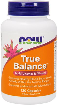 True Balance, Multi Vitamin & Mineral, 120 Capsules by Now Foods, 健康,血糖 HK 香港