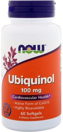 Ubiquinol, 100 mg, 60 Softgels by Now Foods, 健康 HK 香港