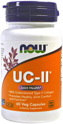 UC-II Joint Health, Undenatured Type II Collagen, 60 Veg Capsules by Now Foods, 健康,骨骼,骨質疏鬆症,關節健康 HK 香港