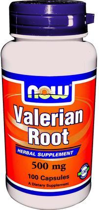 Valerian Root, 500 mg, 100 Veg Capsules by Now Foods, 草藥,纈草 HK 香港