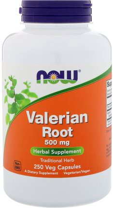 Valerian Root, 500 mg, 250 Veg Capsules by Now Foods, 草藥,纈草 HK 香港