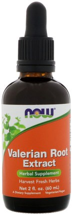 Valerian Root Extract, 2 fl oz (60 ml) by Now Foods, 草藥,纈草 HK 香港
