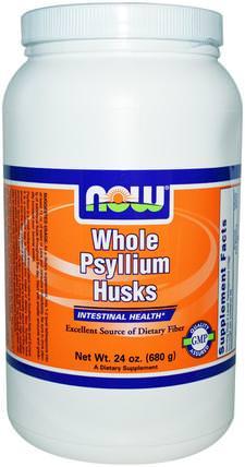 Whole Psyllium Husks, 24 oz (680 g) by Now Foods, 補充劑,纖維,洋車前子殼,洋車前子殼粉末 HK 香港