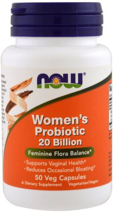 Womans Probiotic 20 Billion, 50 Veggie Caps by Now Foods, 健康,女性,補品,益生菌 HK 香港