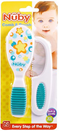 Soft & Gentle, Comb & Brush, 1 Set by Nuby, 兒童健康,嬰兒,兒童 HK 香港