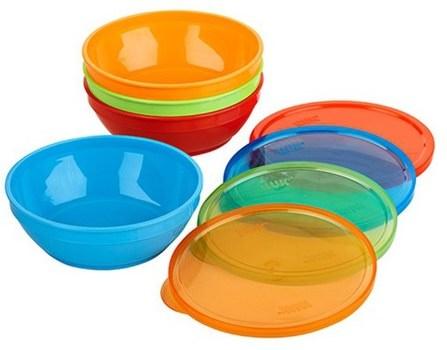 Gerber Graduates Bunch-a-Bowls, 4 Bowls & Lids by NUK, 兒童健康,兒童食品,廚具,杯碟碗 HK 香港