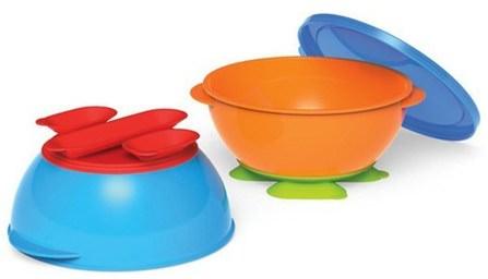 Gerber Graduates, Tri-Suction Bowls, 2 Bowls & 1 Lid by NUK, 兒童健康,兒童食品,廚具,杯碟碗 HK 香港