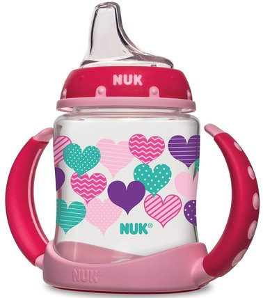 Learner Cup, 6+ Months, Hearts, 1 Cup, 5 oz (150 ml) by NUK, 兒童健康,兒童食品 HK 香港