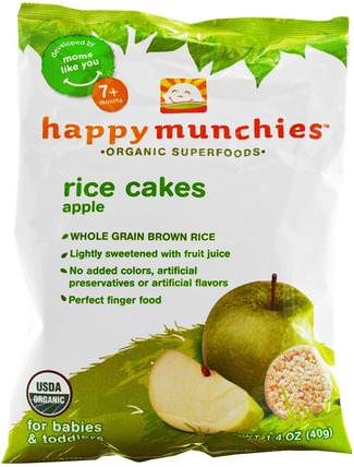 happy munchies, Rice Cakes, Apple, 1.4 oz (40 g) by Nurture (Happy Baby), 兒童健康,嬰兒餵養,嬰兒零食和手指食物 HK 香港