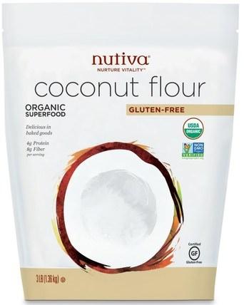 Coconut Flour, Gluten Free, 3 lb (1.36 kg) by Nutiva, 食物,麵粉和混合物,椰子粉 HK 香港