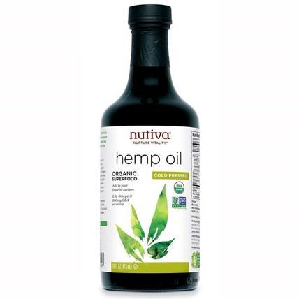 Organic Hemp Oil, Cold Pressed, 16 fl oz (473 ml) by Nutiva, 補充劑,efa omega 3 6 9(epa dha),大麻製品,大麻籽油,食品,食用油酒和醋 HK 香港